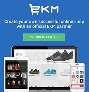 Start selling online with EKM (includes a free trial)