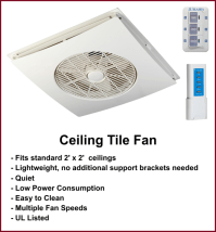 Ceiling Fans - Washable, Waterproof