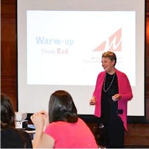 Jane Moyer Speaking at Career Planning Event