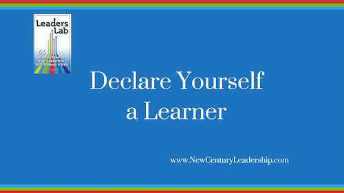 Declare Yourself a Learner