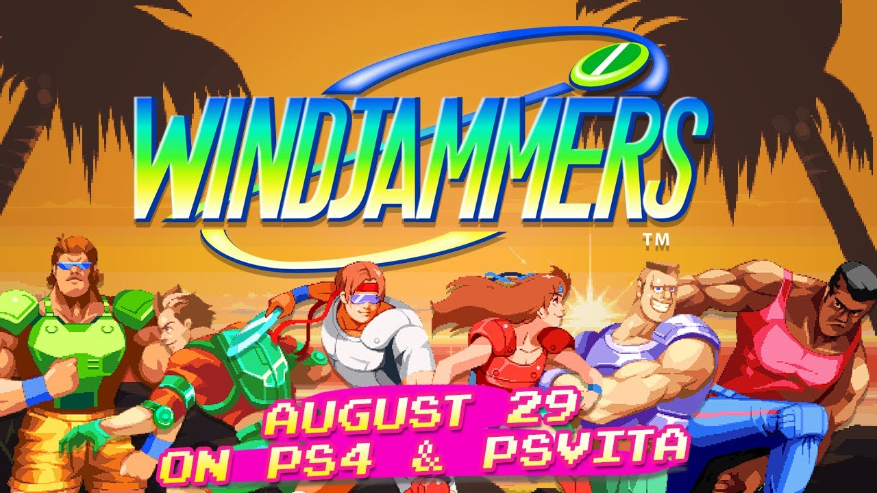 Windjammers is launching August 29 for PSVita and PS4