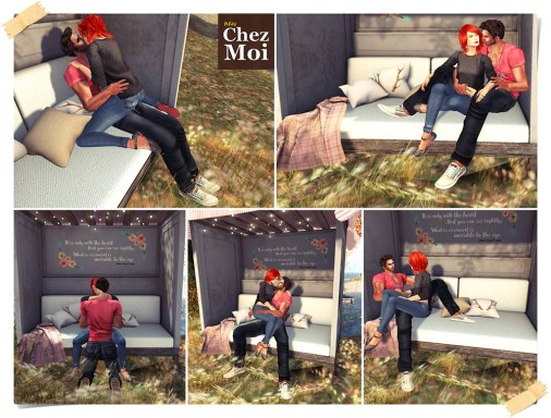 Oh Deer Garden Bench Couple Poses 1 CHEZ MOI
