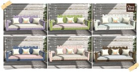 Watercolor Bench Porch Colors CHEZ MOI