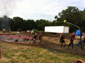 Warrior Dash finish line