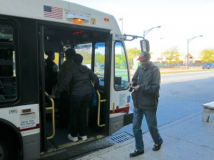 Boarding the Ashland bus in Brainerd. Photo: John Greenfield