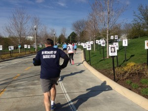 Runners near the finish line during the Run to Remember/Photo: Zach Freeman