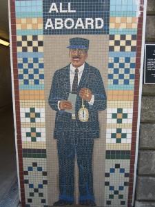 Mural at the Kenosha Metra stop. Photo: John Greenfield