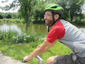 Gareth on the Fox River Trail. Photo: John Greenfield