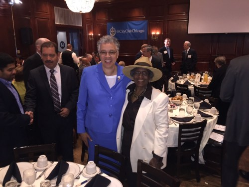 Cook County president Toni Preckwinkle and CNT vice president Jacky Grimshaw. Photo: CNT