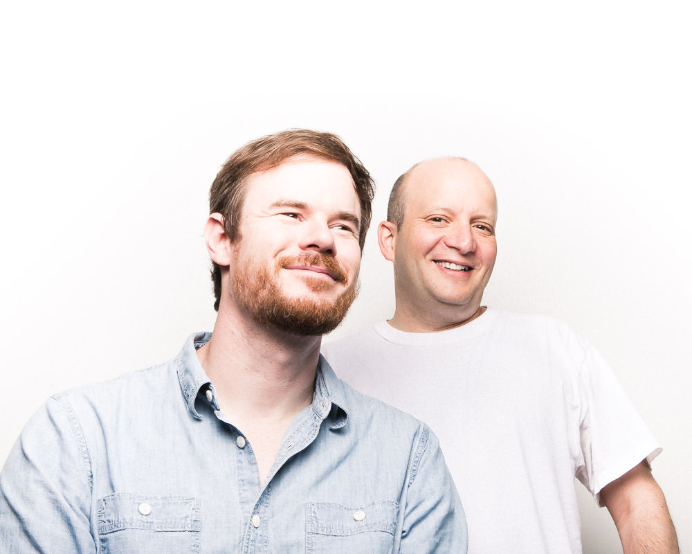 Joe Swanberg and Eddie Linker (Peter Gilbert was out of town)/Photo: Joe Mazza/Brave Lux