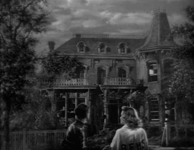 """George and Mary at """"the old Granville house"""" that one day will be their home"""