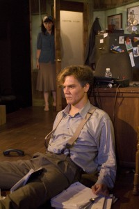 "Mierka Girten and Michael Shannon in ""Mistakes  Were Made"" in 2009 at A Red Orchid"