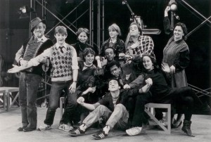 Polly Noonan and Joyce Piven (back middle) in 1985