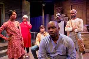 (l to r) Tiffany Addison,      TaRon Patton,      Marc Rogers,      Trinity Murdock, Anthony Irons and Ronald Conner (center front)   /Photo: Samuel G. Roberson Jr.