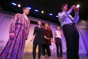 John Hartman,      Chelsea Devantez,      Emily Walker,      Tawny Newsome, Steve Waltien/Photo: Todd Rosenberg