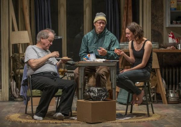 (l to r): Francis Guinan, Tim Hopper and Helen Sadler/Photo: Michael Brosilow
