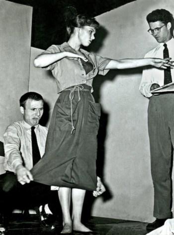 David Shepherd, Barbara Harris and Andrew Duncan, Circa 1955