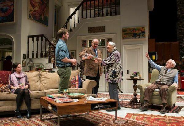 (left to right) Audrey Francis (Claire), Cliff Chamberlain (Mark), Francis Guinan (Ian), Lois Smith (Patricia) and John Mahoney (Brian)/Photo: Michael Brosilow