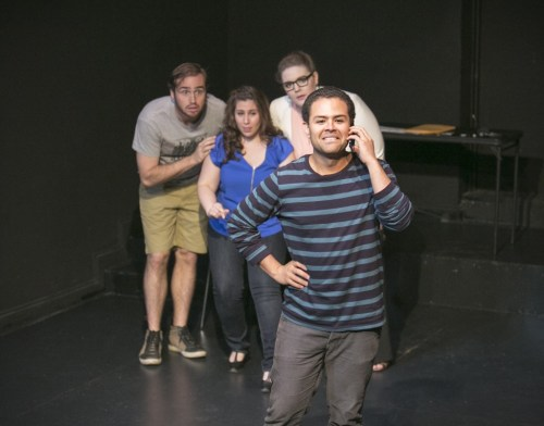 Matt Frye,      Anna Schutz,      Neala Barron, and Yando Lopez/Photo: CB Lindsey