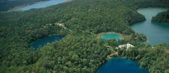 Lagunas de Montebello vista aerea