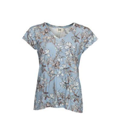 Karma-V-Neck-T-Shirt-J72-Karma-Flower
