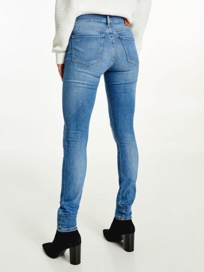 Tommy spijkerbroek L32 WW0WW327551A5 dames blauw