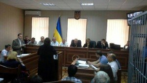 Trial of two former Ukrainian 'Berkut' police in Kyiv in July 2015 (photo on Censor.net)