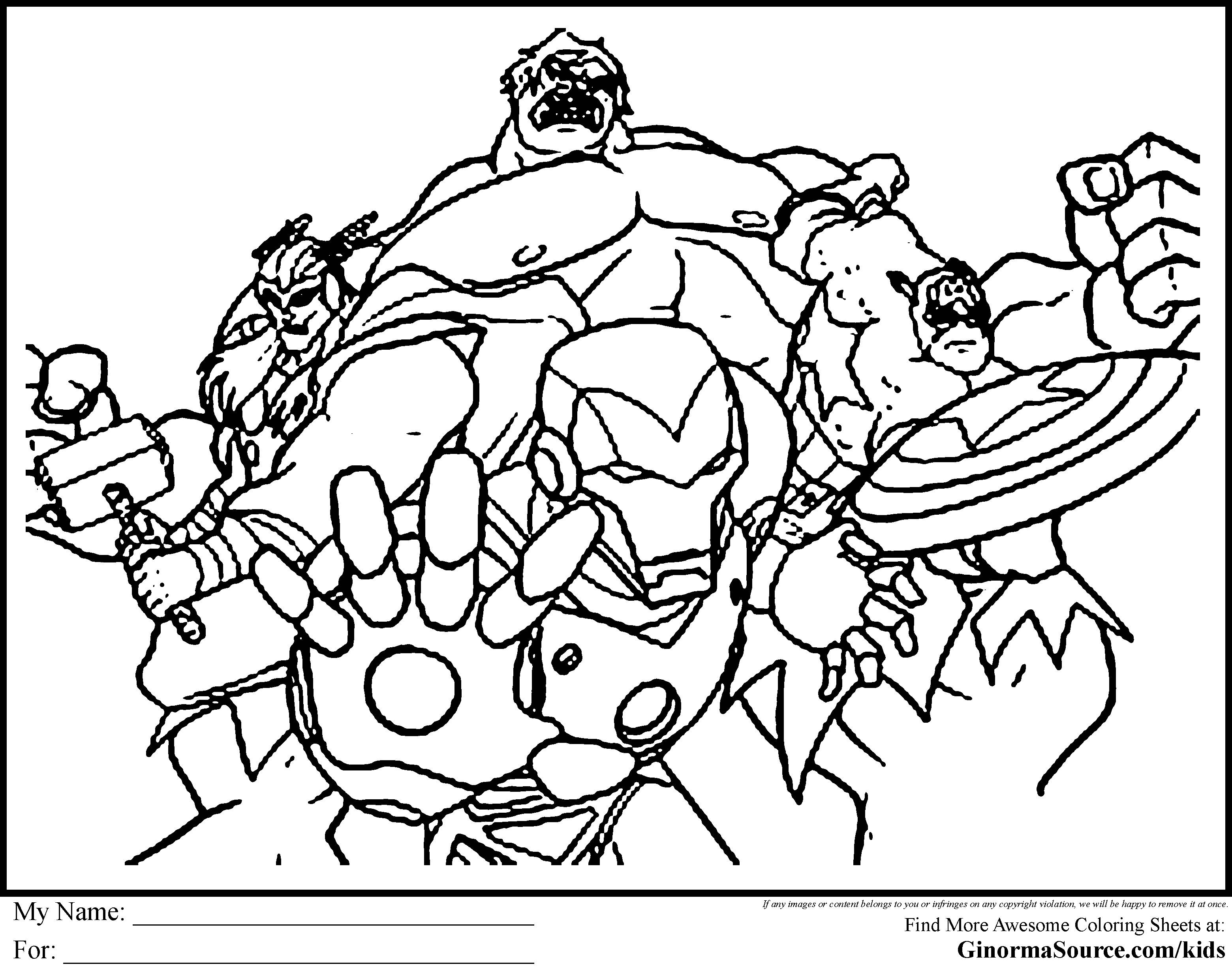 Avengers Coloring Pages To Print Coloring Pages