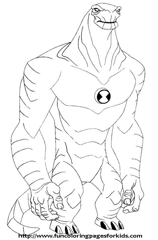Ben 10 Diamond Head Pages Coloring Pages