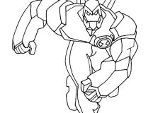 ben 10 coloring pages diamond head