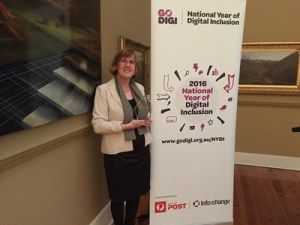 Sue Ellson Highly Commended in the Mentor Category of the National Year of Digital Inclusion Awards