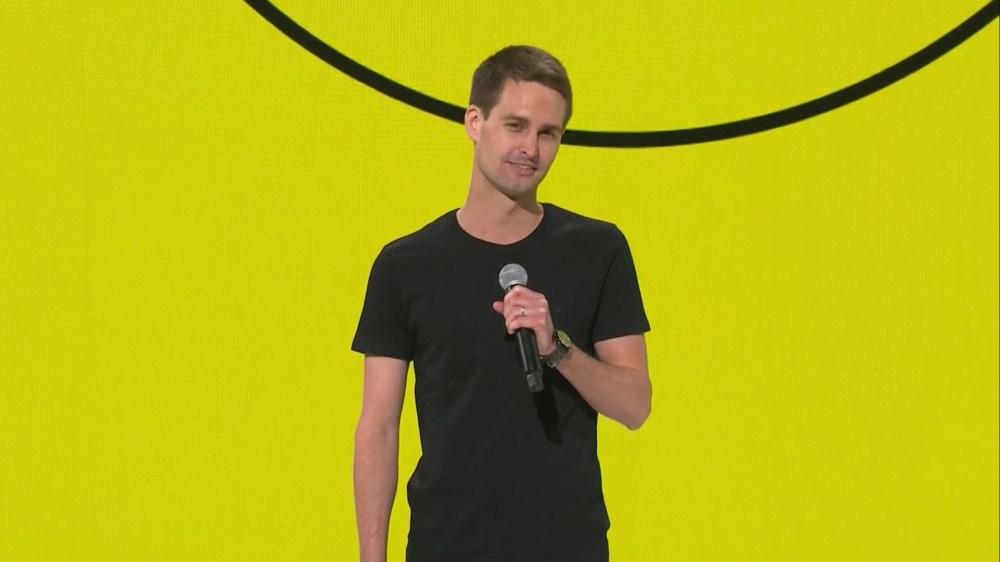 Evan Spiegel Snap Partner Summit