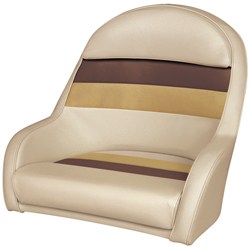 captains chair cover for pontoon boat gray velvet dining chairs seats west marine bucket style captain s sand chestnut gold