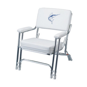folding chairs for boats yoga ball in the classroom outdoor seating west marine mariner deck chair with sewn cushions