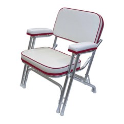 West Marine Chairs Recliner Garden Chair Cushions Uk Wise Seating Folding Deck With Aluminum Frame White Dark Red
