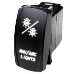 Illuminated Marine Rocker Switches Cruise Control Wiring Diagram Chevrolet West Logo Switch Nav Lights White Sport Lighting