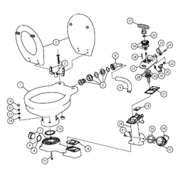JABSCO Jabsco Service Kits & Parts for Manual Toilets