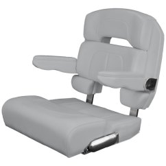 West Marine Chairs Leather Arm Chair Taco 25 Deluxe Capri Helm Light Gray