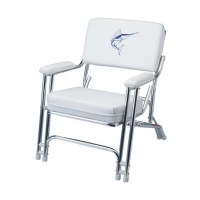 GARELICK Mariner Folding Deck Chair with Sewn Cushions ...