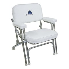 Folding Chair Embroidered Chairs Made Out Of Pallets Wise Seating Deck With Sportsfish And Aluminum Frame