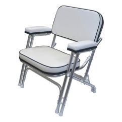 Marine Deck Chairs Arthrex Beach Chair Weight Limit Wise Seating Folding With Aluminum Frame White Navy