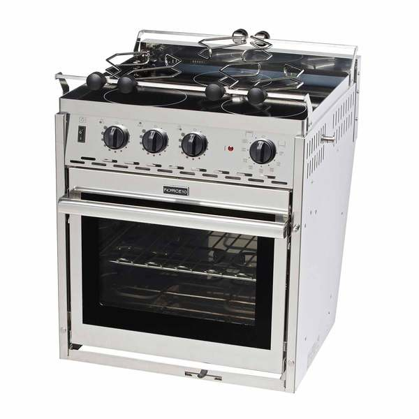 electric stove 6 pole trailer connector wiring diagram force 10 three burner glass top 120v range west marine