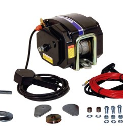 here s what you get with powerwinch s model 915 electric trailer winch [ 1410 x 1020 Pixel ]