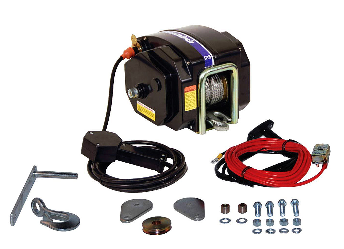 hight resolution of here s what you get with powerwinch s model 915 electric trailer winch