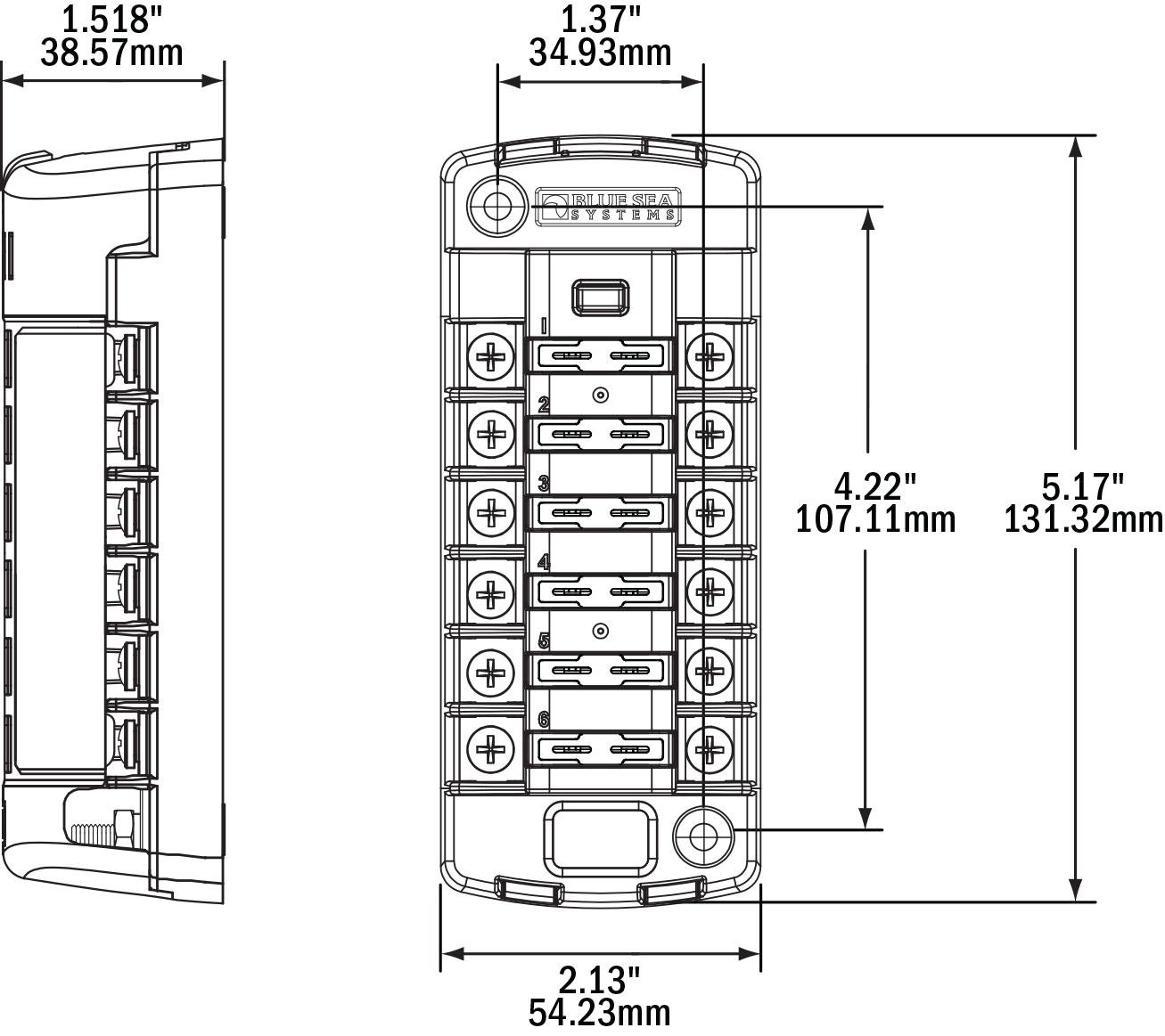 blue sea systems wiring diagram diagrams 32 ballast resistor st blade 6 position fuse block west marine