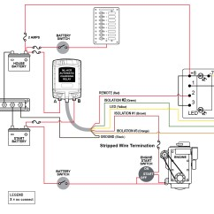 Marine Battery Wiring Diagram 2 Motorcycle Turn Signal Blue Sea Systems Ml-acr Automatic Charging Relay, 500a 24vdc   West