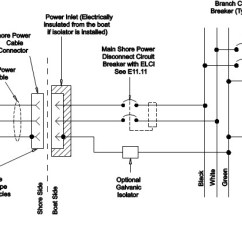 3 Wire Electrical Wiring Diagram Warn M8000 Winch Diy Shore Power West Marine Separate Systems For Dc And Ac Schematic Drawing