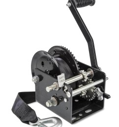 two speed manual trailer winch with strap [ 1254 x 1500 Pixel ]