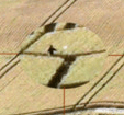 "Alleged ""Ball of Light"" passes near Dr. Hein in the center of the formation."