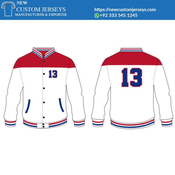 Off white Varsity Jacket